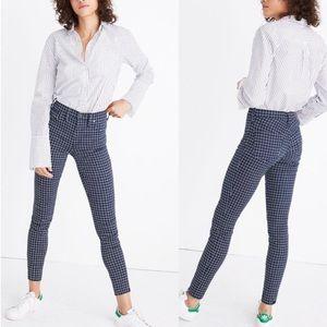 """Madewell 9"""" High-Rise Skinny Jeans Windowpane Blue"""